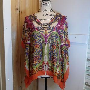 Talbots Silk Paisley Print Kimono